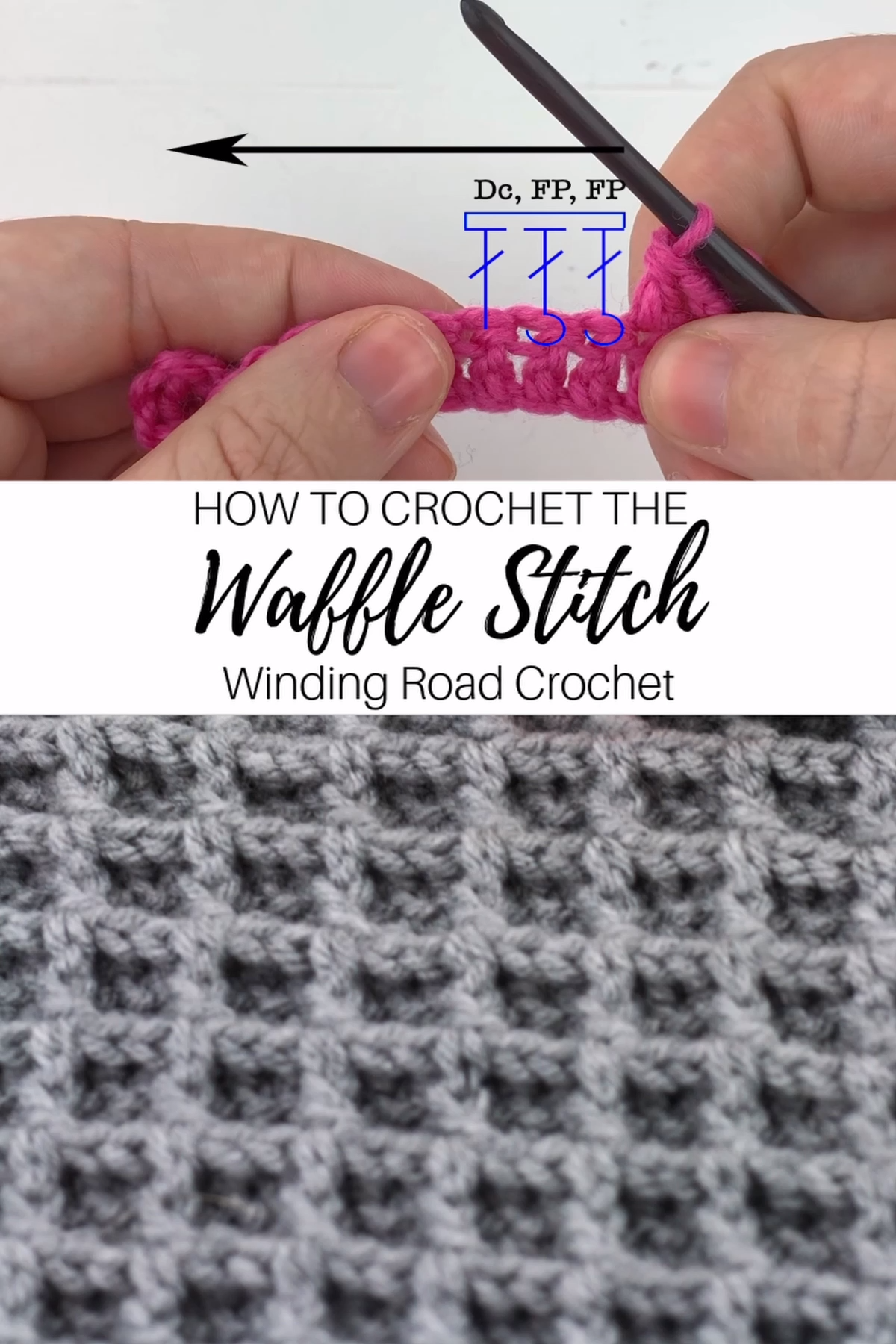 How to Crochet the Waffle Stitch Video Tutorial Right and Left Handed #crochetstitches