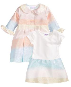 a3f2aef31 Blueberi Boulevard 2-Pc. Multicolor Coat   Dress Set