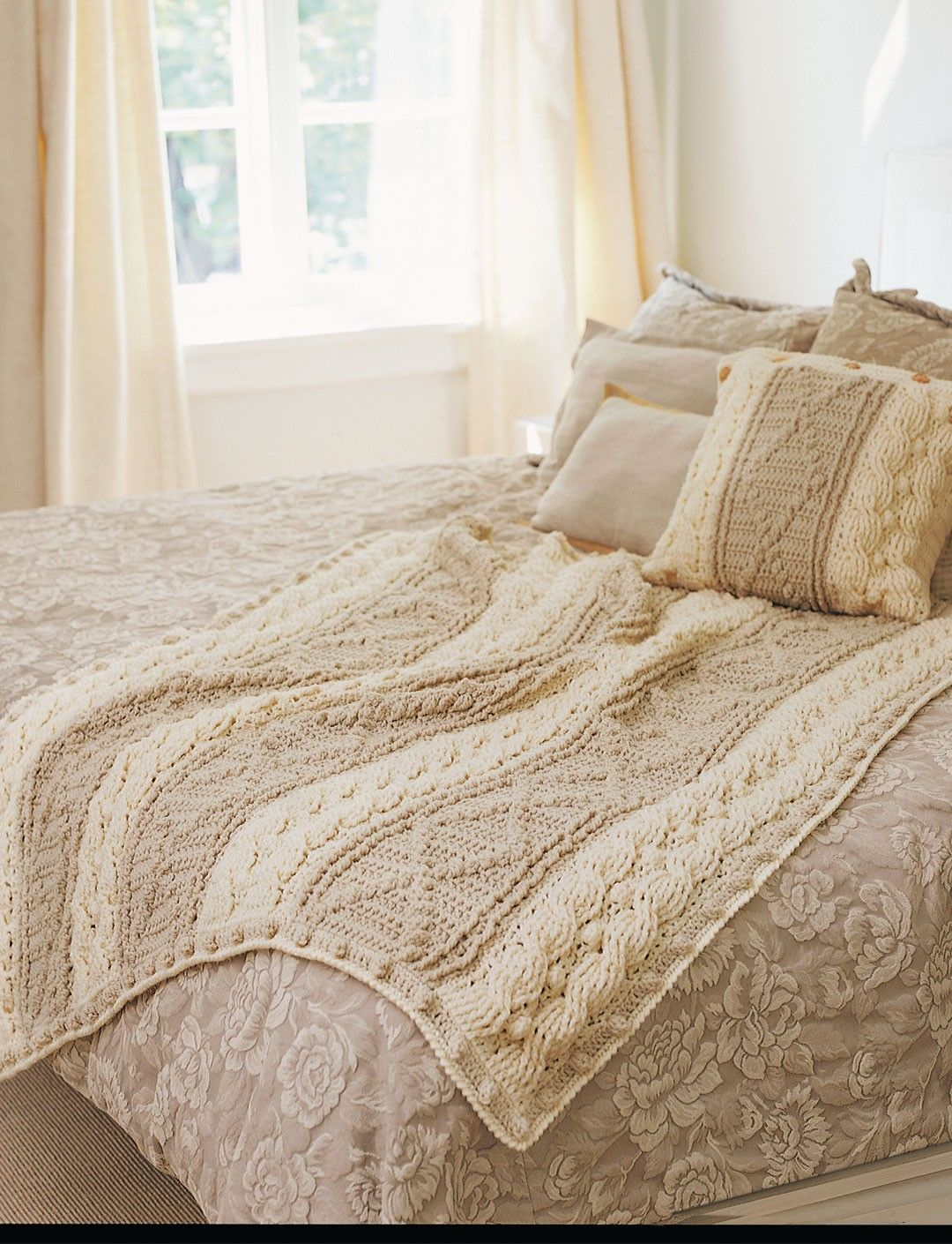 Free knitting pattern for cable and lace afghan ann v crochet patterns galore soft neutrals pattern at site bankloansurffo Images