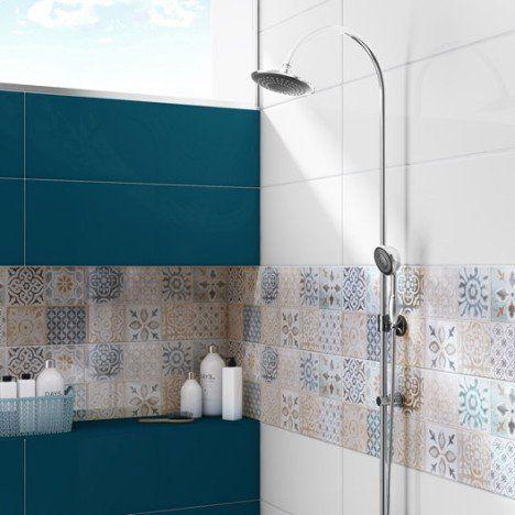 Faïence mur bleu, Haussmann l25 x L76 cm Selection dans les