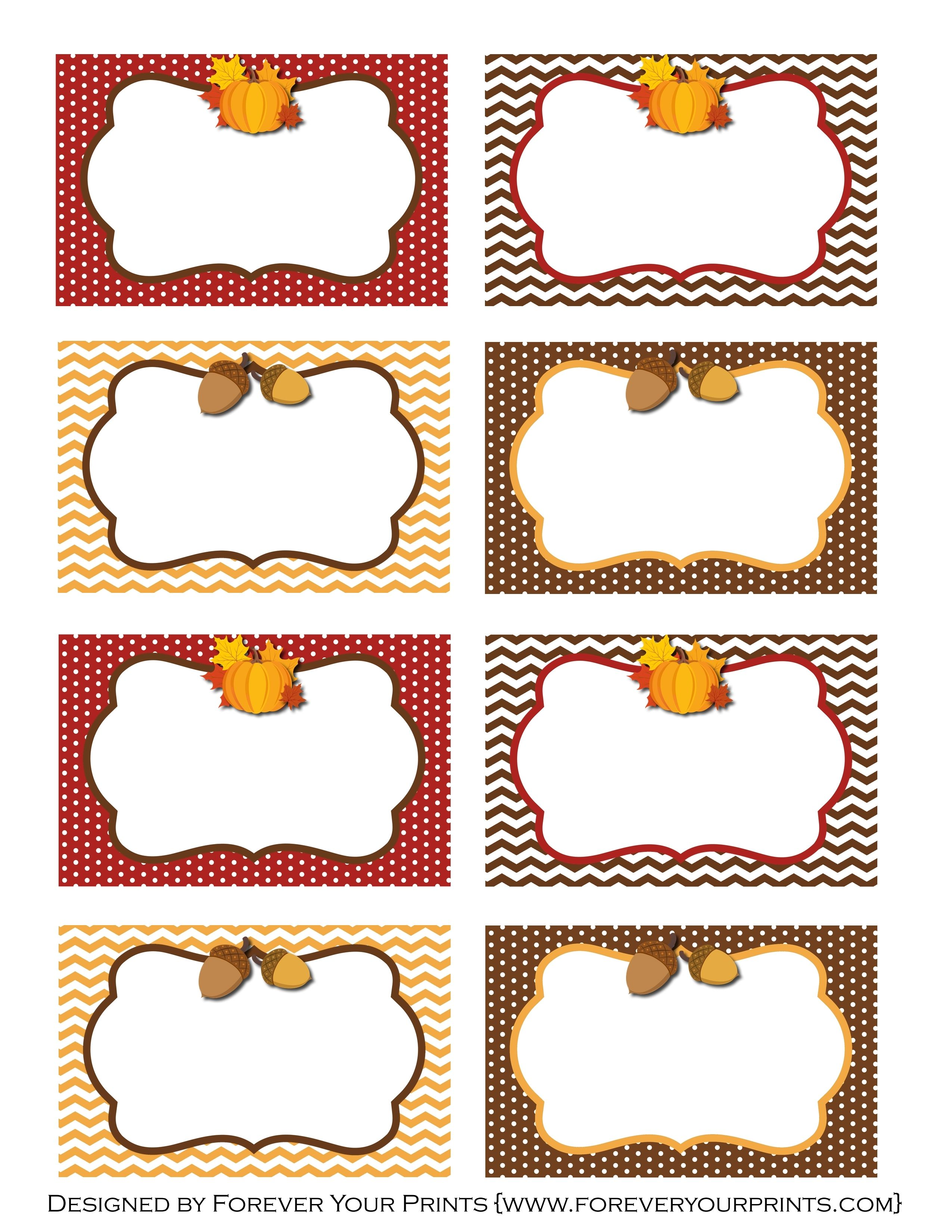 This is a graphic of Printable Thanksgiving Name Cards inside thanksgiving table