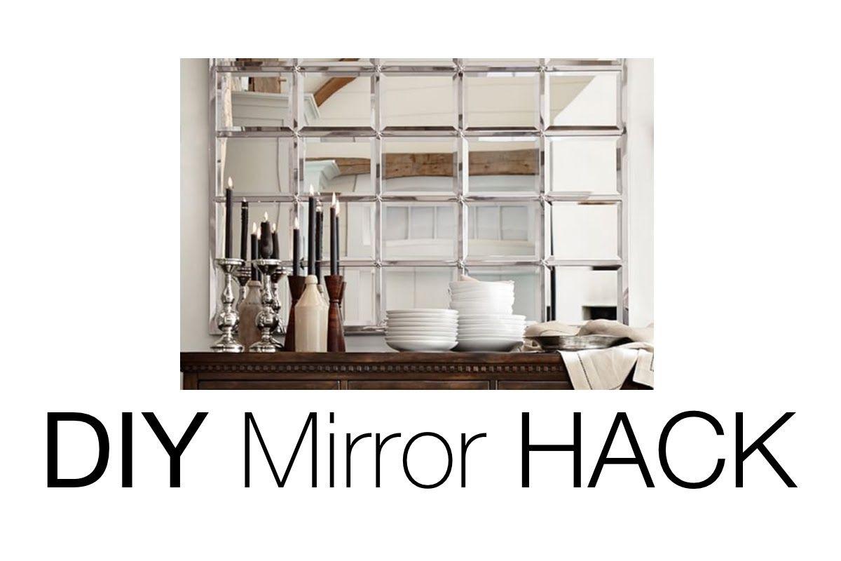 Diy Beveled Mirror Pottery Barn Mirror Hack Pottery Barn