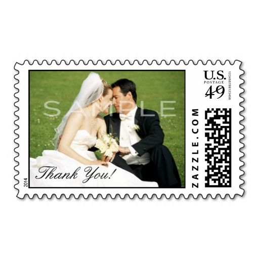 Wedding thank you note photo postage stamps - Use your own photo. => http://www.zazzle.com/wedding_photo_stamps_use_your_own_photo-172414016770307686?CMPN=addthis&lang=en&rf=238590879371532555&tc=pinWideasThankyounotepostagestamp
