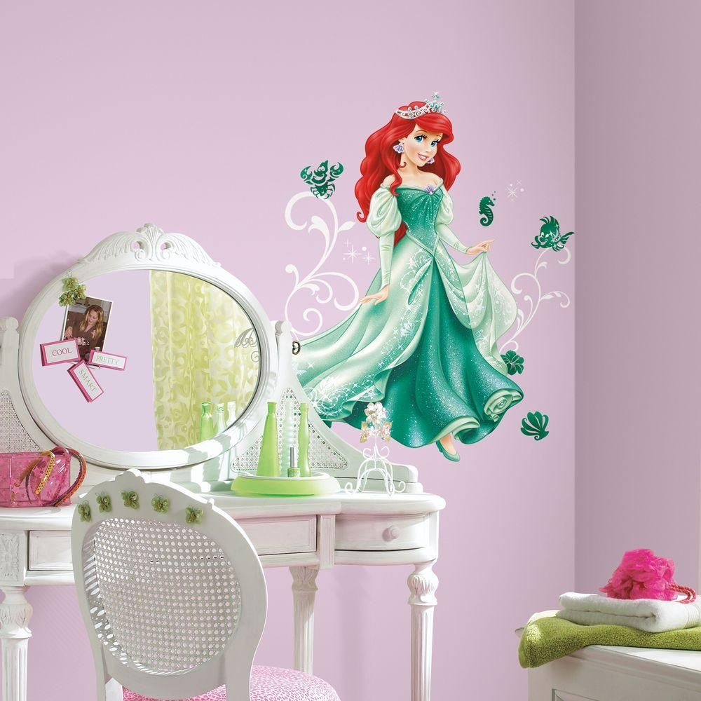5 In X 19 In Disney Princess Ariel Giant Peel And Stick Wall Decal