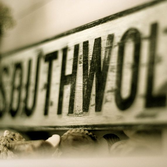Custom handmade Vintage UK Street Sign by dittographic on