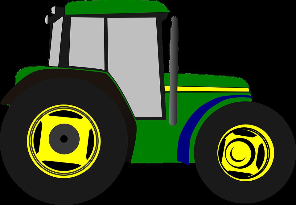 Free Image on Pixabay Tractor, Cartoon, Isolated