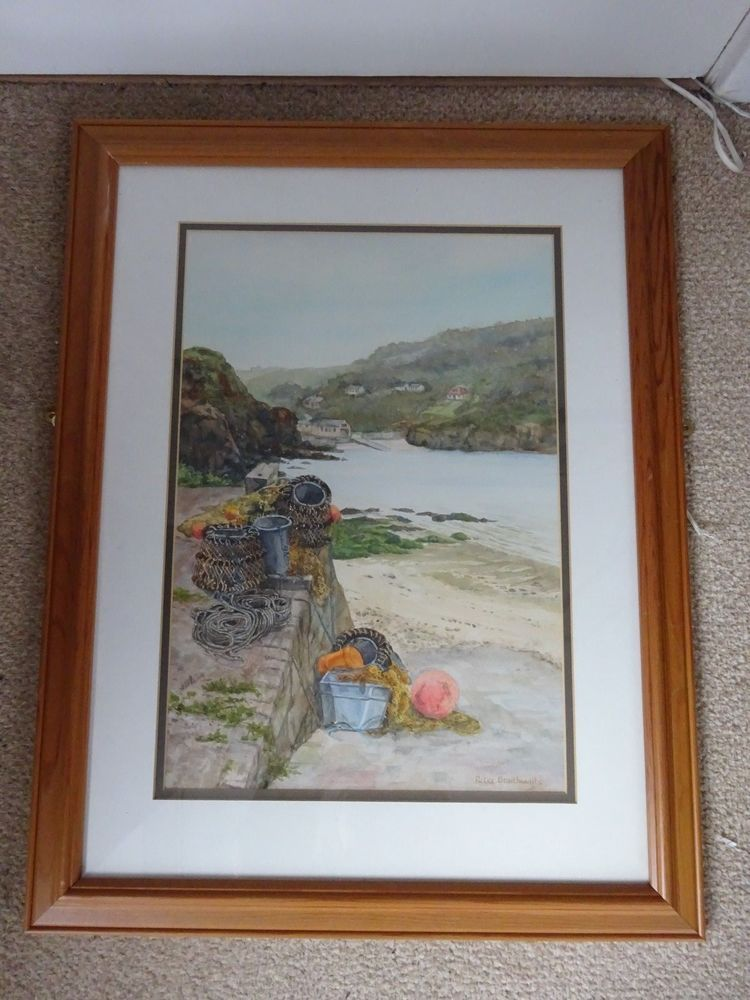 Original Framed Watercolour Painting of a Devon Cove | Devon, Cove ...