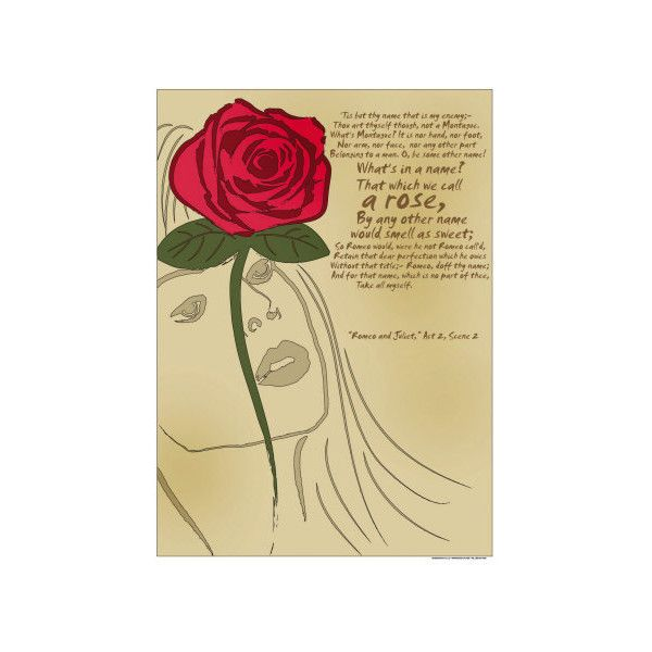 Romeo and Juliet: A Rose Wall Art Print ($20) ❤ liked on Polyvore ...