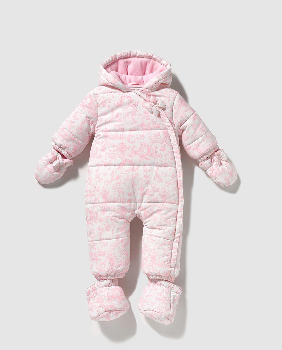 2ce70b5fd5236 Buzo de bebé niña Dulces estampado con capucha