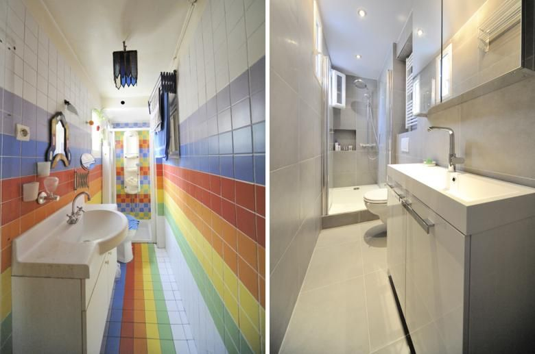 R novation d une salle de bain troite salle de bain for Salle de bain etroite