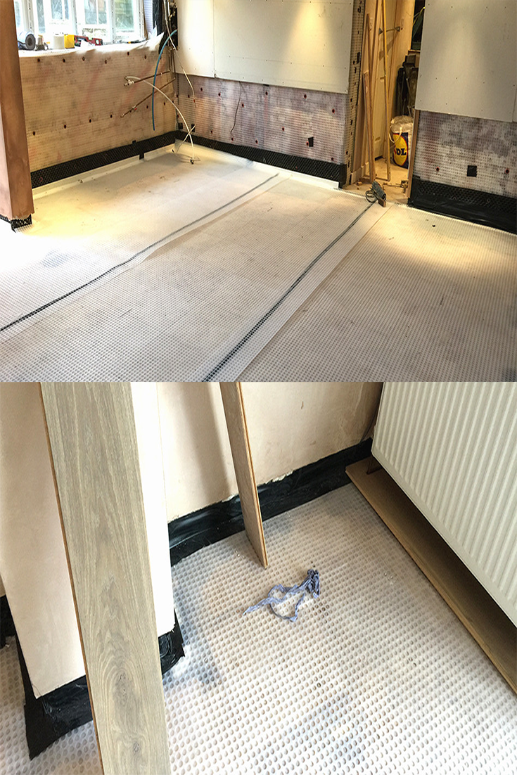 Basement waterproofing by installing a cavity drain d& proofing system to the undercroft on the property and created a dry usable bathroom and utility ... & Basement waterproofing by installing a cavity drain damp proofing ...