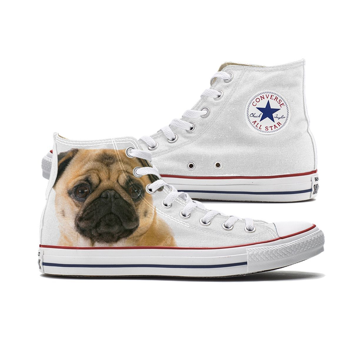 You Will Receive Many Pugs Women's Casual Shoes Flat Customize Cute Original
