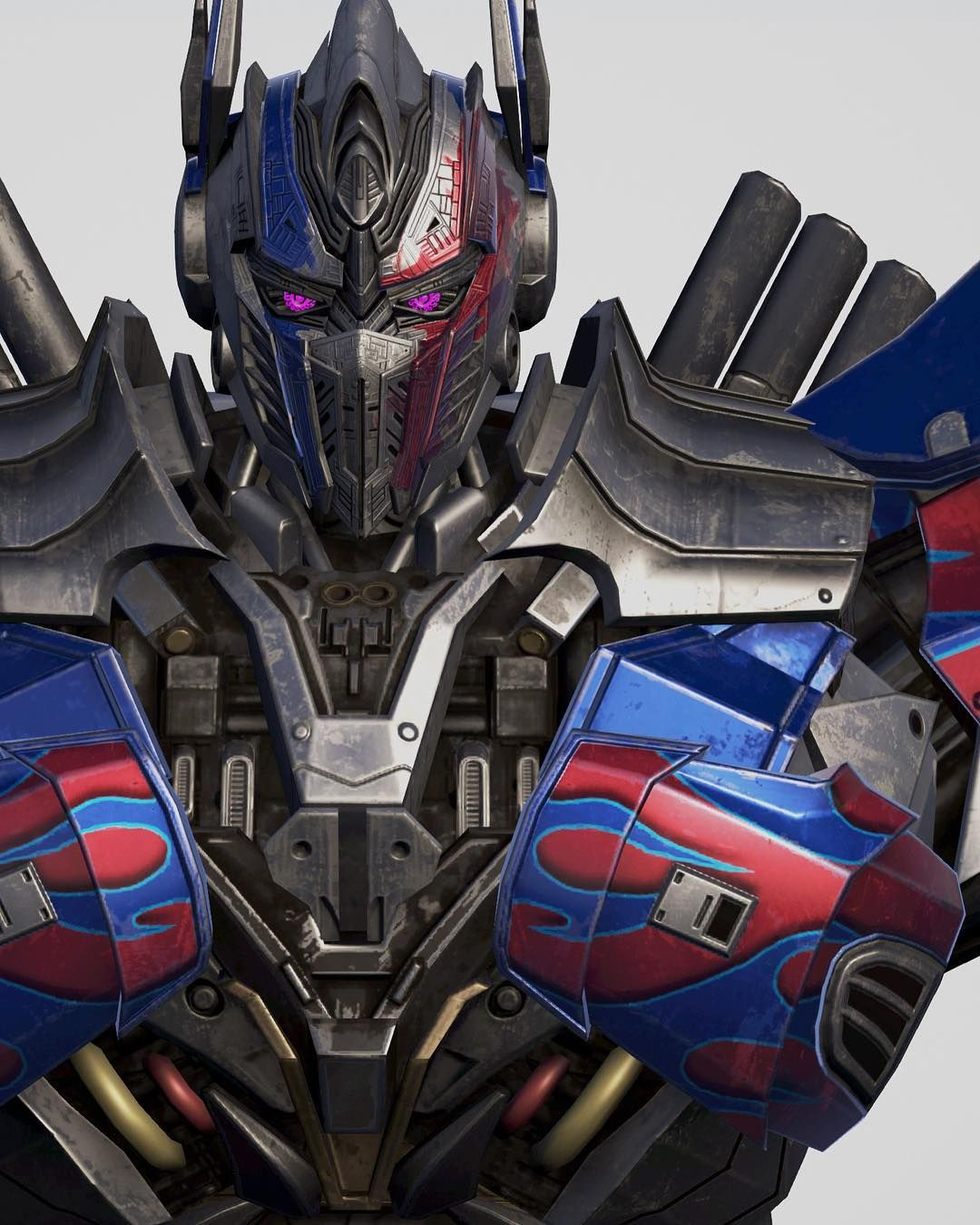 this 3d model of optimus prime is the greatest image i've ever seen
