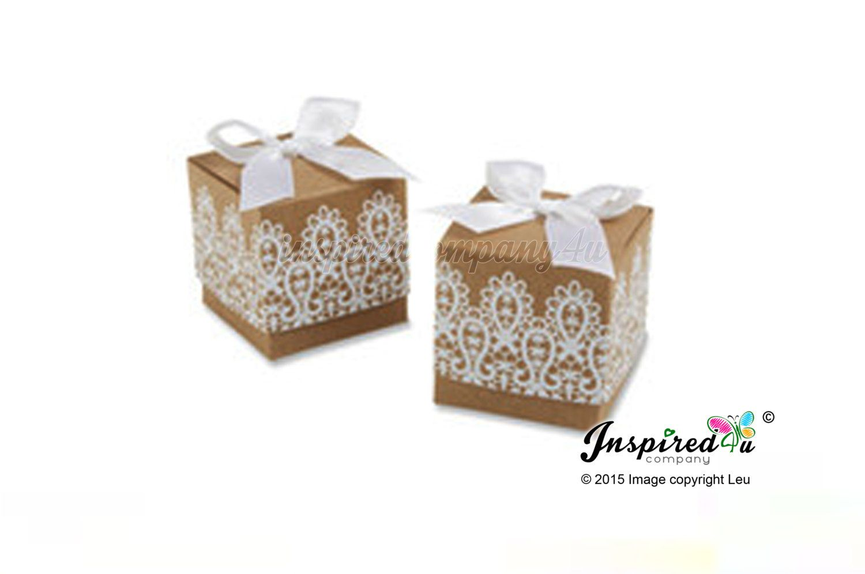Romantic Lace Laser Cut Favor Box Wedding Favors Red Candy Box ...