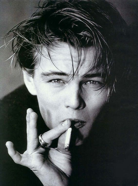 Image result for leo dicaprio black and white young dude