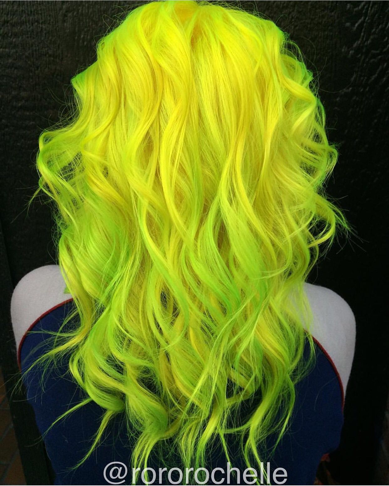 Neon Yellow Hair And Neon Green Hair Color By Rochelle Fairfield