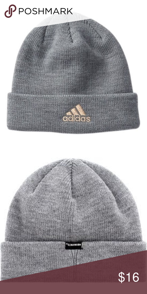 af35bae9 adidas Women's Team Issue Fold Beanie Hat, Gray adidas Women's Team Issue  Fold Beanie Hat