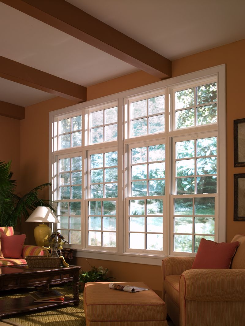 Window ideas for a sunroom  a sunroom or den gets great light with our double hung windows that