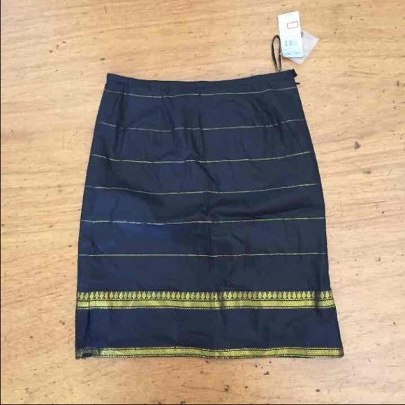 Ladies Skirt Brand new with tags black and gold color combo skirt with side zipper closure Skirts