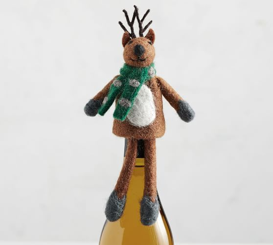 Holiday Felt Wine Topper Collection Pottery Barn