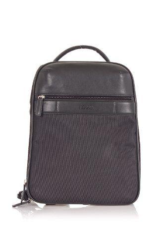 Click Image Above To Buy: Gianfranco Ferre Gf 2013 Nero 001 Black Versatile Backpack / Laptop Case