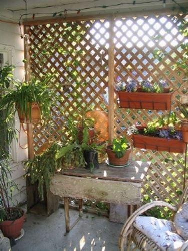 Grigliati in legno per terrazzo | idee porticato esterno | Pinterest