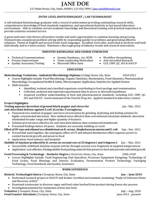Click Here To Download This Biotechnologist Resume Template Http Www Resumetemplates101 Com Bi Resume Template Resume Template Examples Good Resume Examples