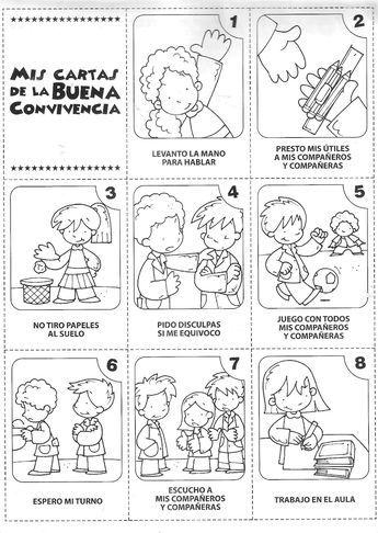 Dibujos Para Colorear Normas De Convivencia Imagui Elementary Spanish Classroom Rules School Worksheets