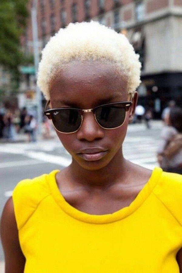 Short Natural Hair Light Skinned Woman