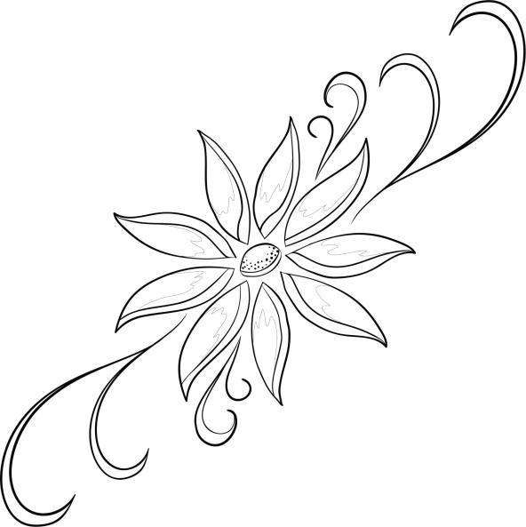 Dibujos de flores para imprimir y pintar | Bricolaje y manualidades ...