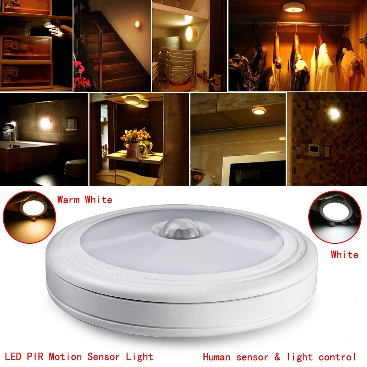 Led wireless pir auto sensor motion activated cordless infrared led