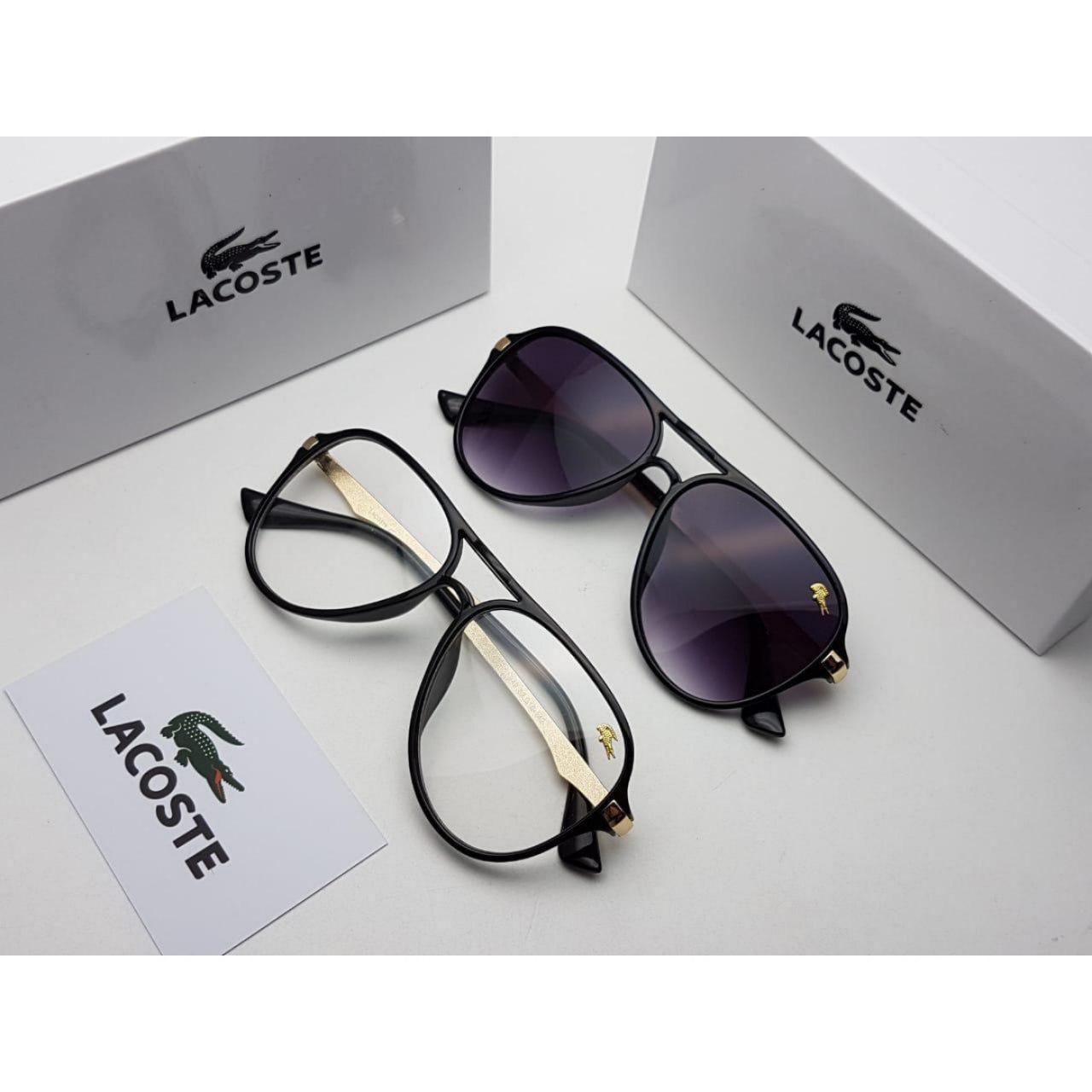 نظارات لاكوست رجالي Lacoste درجه اولى مع كامل ملحقاتها و بنفس الاسم هدايا هنوف Glasses Sunglasses Fashion