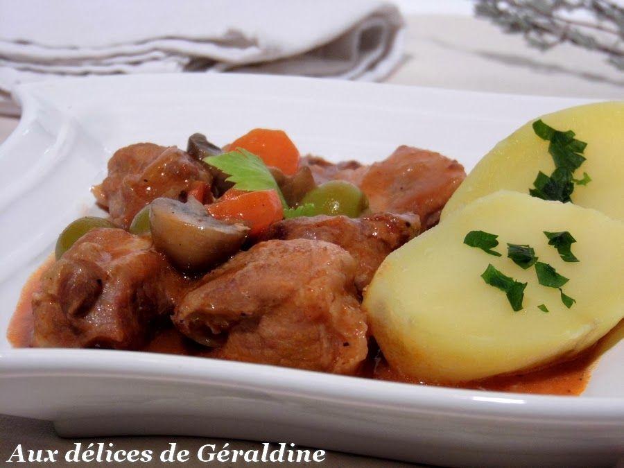 Aux délices de Géraldine: Sauté porc en ragoût (recette facile)