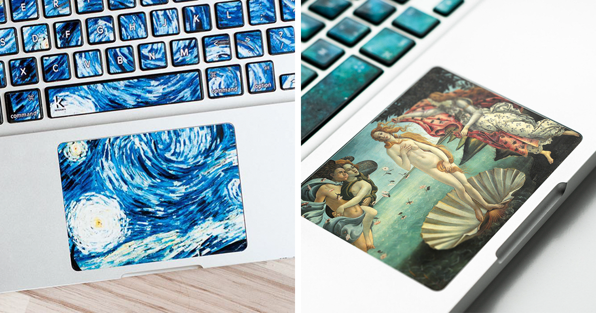 Keyboard Stickers That Turn Your Laptop Into Iconic Paintings | Bored Panda