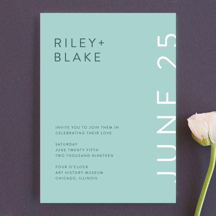 invitations minimal modern customizable