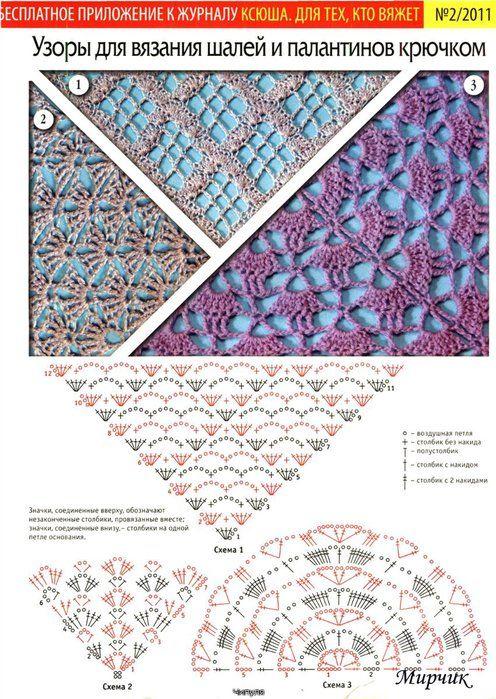 Pin de elizabeth liendo en puntadas a crochet | Croché, Ganchillo y Chal