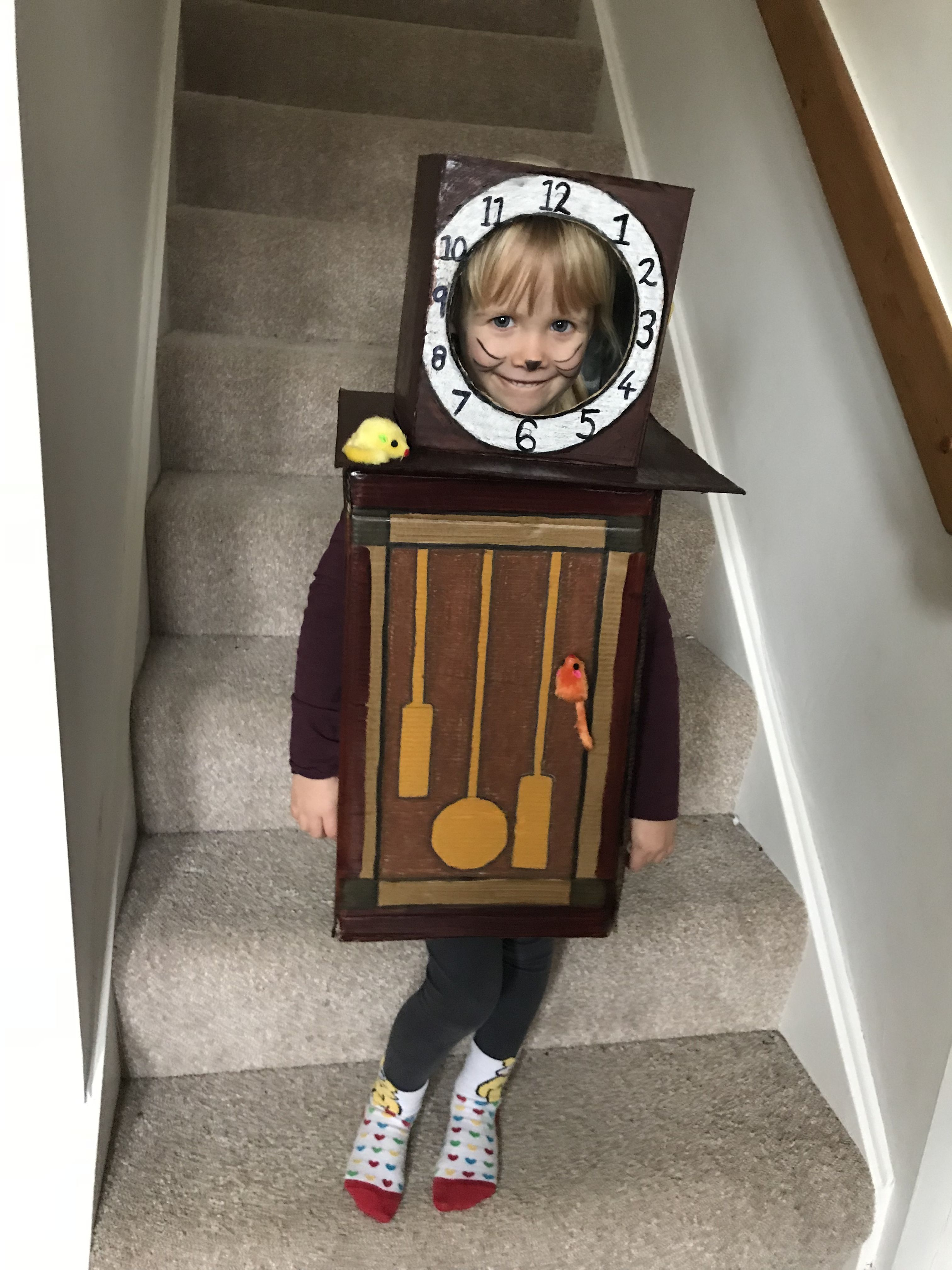 Hickory Dickory Dock -Nursery Rhyme character. Clock costume in