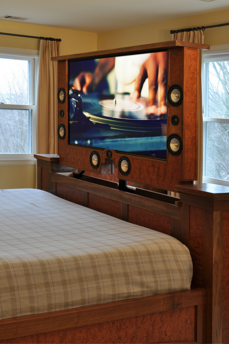 Reveal Your TV In A Sleek Way With This Enclosed Lift Straight Out Of