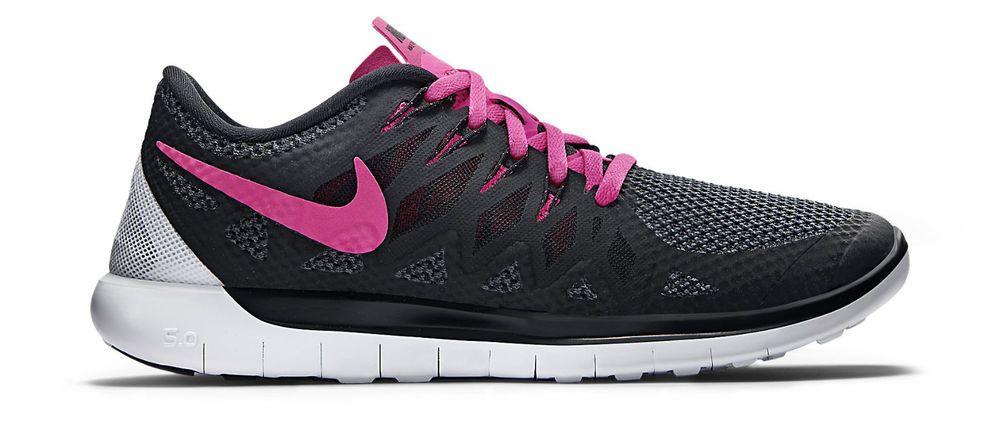 designer fashion 72681 e6d6b Nike free 5.0 women's black/pink training shoes sz 8.5 ...