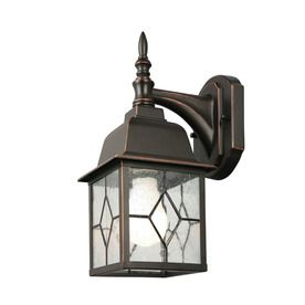 Portfolio Litshire 13 5 In H Oil Rubbed Bronze Outdoor Wall Light Back Porch X2 Led Outdoor Wall Lights Wall Lights Outdoor Lighting