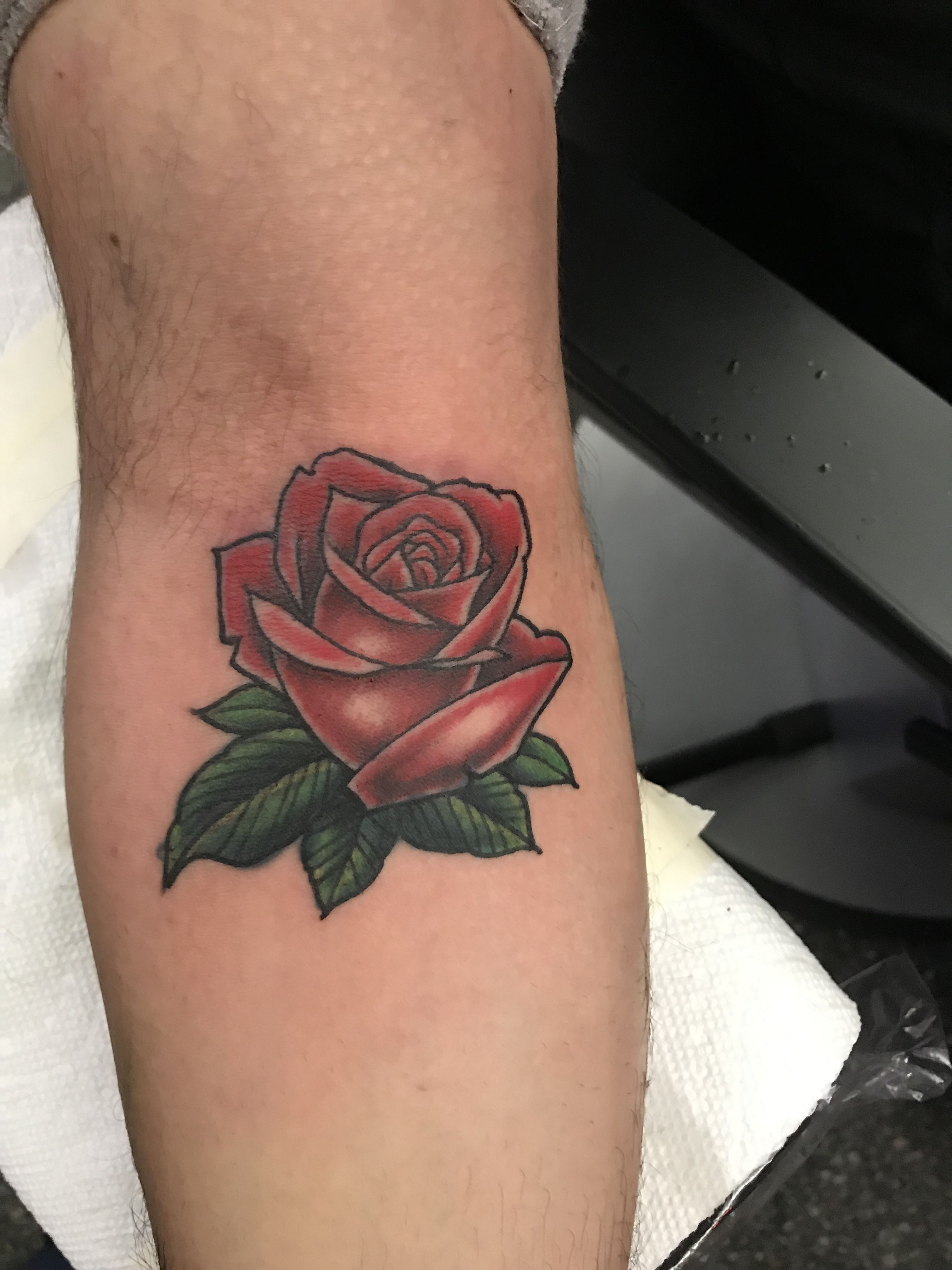 Red Rose tattoo   Coloured rose tattoo, Red rose tattoo