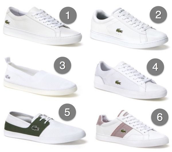 chaussure blanche lacoste