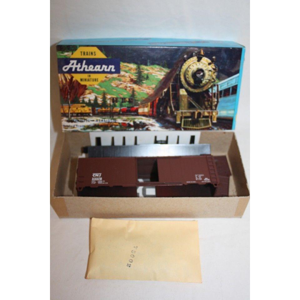 ATHEARN TRAIN 40' BOX CAR #1167 TUSCAN RED CENTRAL NEW