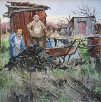 British Artist John LINES-Manure Operatives