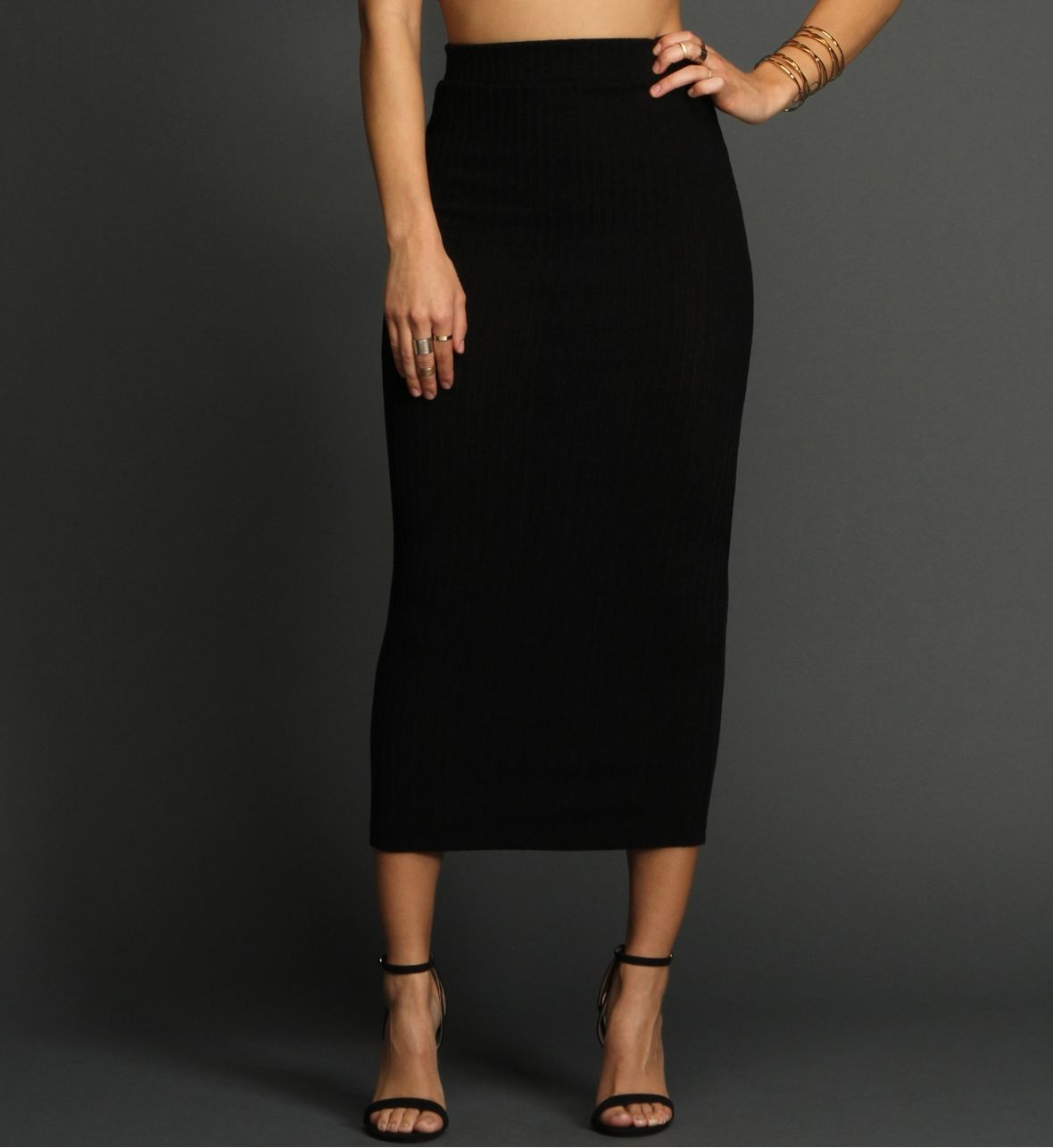 BLACK MIDI SKIRT PENCIL SKIRT | Style | Pinterest | Products ...