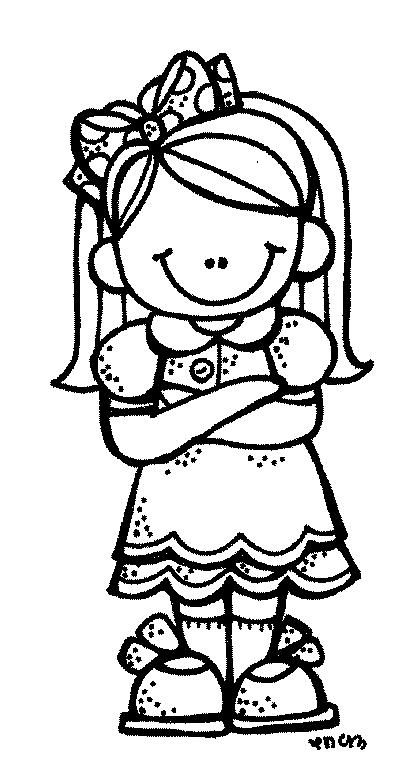 Nena Blanco Y Negro Preescolar Dibujos Para Preescolar Dibujos