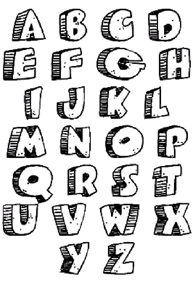 cool bubble letters graffiti alphabet letters caveman design crochet 20953