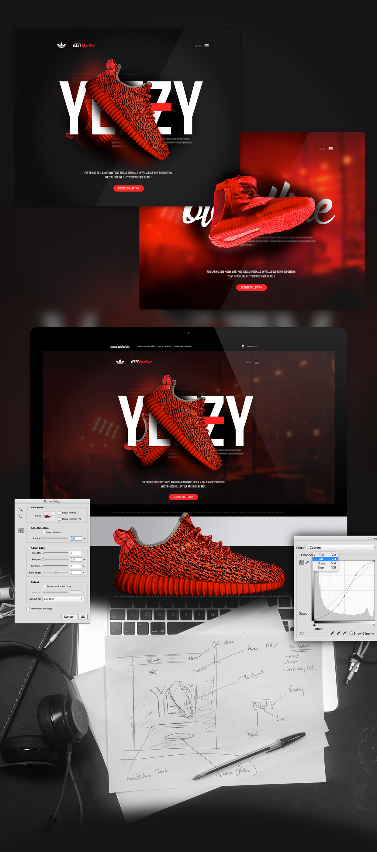 the best attitude 55b93 be4c1 Adidas X Kanye West  Yeezy Bloodline  Web App Concept on Behance