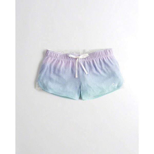 eb1538936dfc Hollister Curved Hem Sleep Shorts ( 20) ❤ liked on Polyvore featuring  intimates