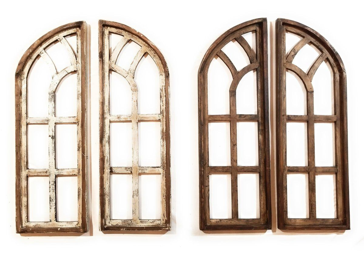 Farmhouse Wooden Wall Windows Set Of 2 Wood Window Frame Chariot Gardens White Wood Window Frame Rustic Accents Decor Wooden Walls